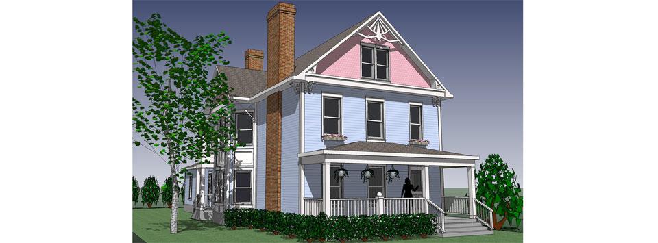 Self tucker architects portfolio duplex homes for Duplex project homes